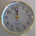 100 mm Clock Fit up White
