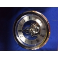 100mm Skeleton Clock Silver
