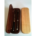 Double Wooden Pen Box